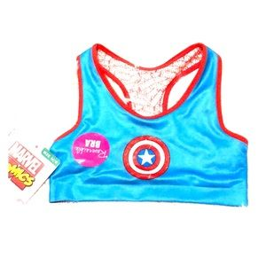 ❤️ Marvel comics Captain America girls sports bra